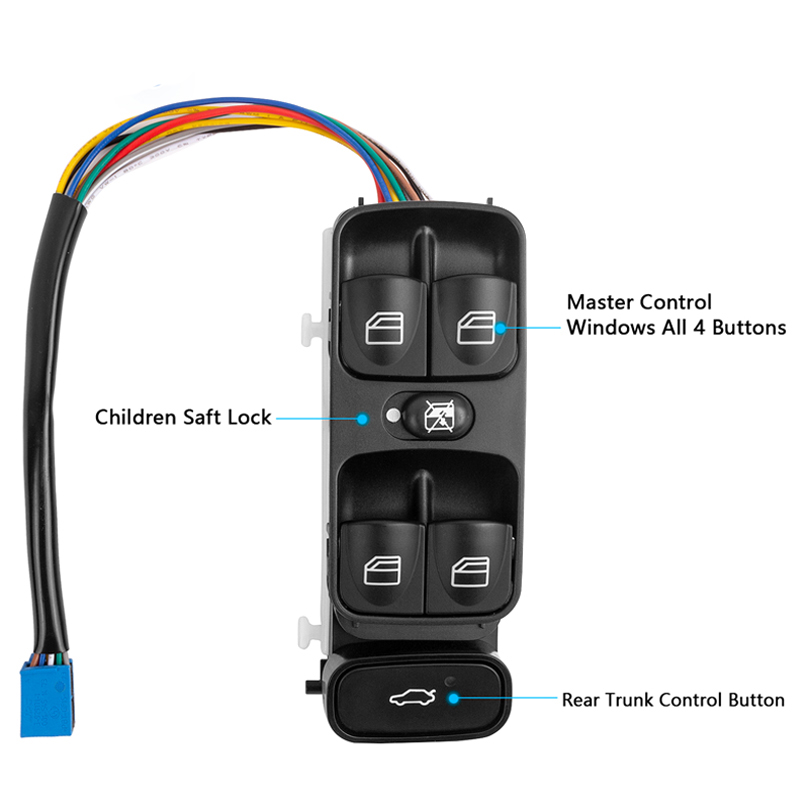 Front Left Power Control Window Switch For <font><b>MERCEDES</b></font> <font><b>SL500</b></font> C CLASS W203 C200 C220 2098203410 2038200110 2038210679 A2038210679 image