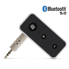цена на Bluetooth 5.0 Audio Receiver Hifi Stereo Music Wireless Receiver Aux 3.5mm Jack Bluetooth Adapter Handsfree Call For Speaker Car