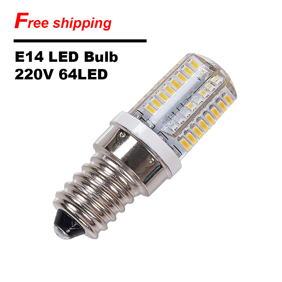 E14 LED Corn Bulb 220V SMD3014 3W 5W Silicone Led Lamps Green energy Chandeliers Lighting 360 Degree Replace Halogen Lamp