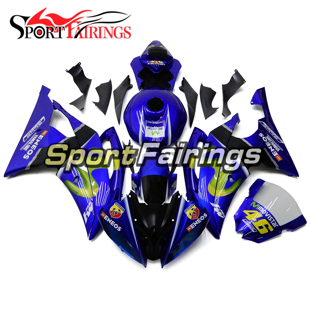 Blue Fairings For Yamaha YZF600 R6 Year 08 14 2008 2009 2010 2012 2013 2014 ABS Motorcycle Fairing Kit Bodywork Cowling