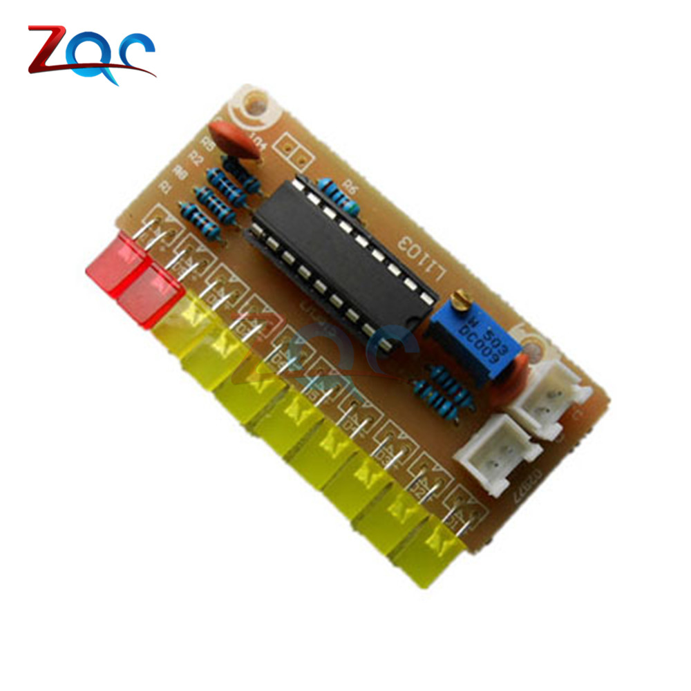 Funny 10 Led Audio Level Indicator Lm3915 Diy Kit Electronic Sound Bar Dot Vu Meter Circuit Based Spectrum Analyzer Suite Module In Instrument Parts Accessories