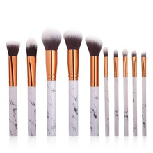 10pcs Women Makeup Brushes Extremely Soft Brush Set Foundation Powder Marble Make Up Tools