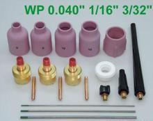 """ENVÍO GRATIS 18 PK Lente TIG Antorcha de Gas Grande WP-9/20/25 WP De Tungsteno 0.04 """"1/16"""" 3/32 """"máquina de soldadura"""