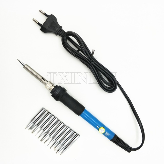 Electric Soldering Iron Set Welding Solder Station Heat Pencil Repair Tool Kit 60W Adjustable Temperature