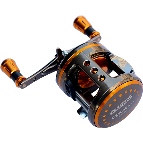 9BB 5.1:1 GS5000 6000 Full Metal Casting Drum Reel Boat Trolling Fishing Reel Aluminum Alloy  Big Game Reels Baitcast Lure Wheel 1 65m 1 8m high carbon jigging rod 150 250g boat trolling fishing rod big game rods full metal reel seat sic guides eva handle