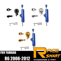 For YAMAHA R6 2006 2012 Steering Damper Stabilizer Kit Motorcycle accessories CNC R 6 R 6 2007 2008 2009 2010 2011 2012