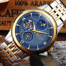 AESOP reloj Fase Lunar hombres de moda bule Sapphire mecánico Automático de acero Inoxidable fecha impermeable reloj relogio masculino