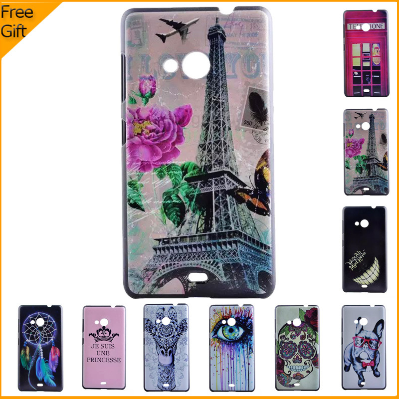 best loved 15047 438fa US $2.49  Luxury Cute 3D Painted Cell Phone Case Cover For Nokia Microsoft  Lumia 535 Dual Sim Case Hard Cartoon Plastic Shell Back Cover-in Fitted ...