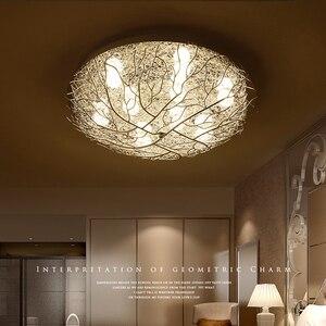 Image 2 - 현대 천장 조명 led 조명 홈 비품 거실 램프 새의 둥지 luminaires 키즈 침실 천장 조명