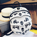 2016 new winter Korean pangolin skull beetle trend of personality patterns lovers Backpack free shipping