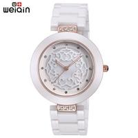 WEIQIN Brand High Quality Full Ceramic Women Watches Elegant Relojes Mujer 2017 Fashion Watch Women 3ATM