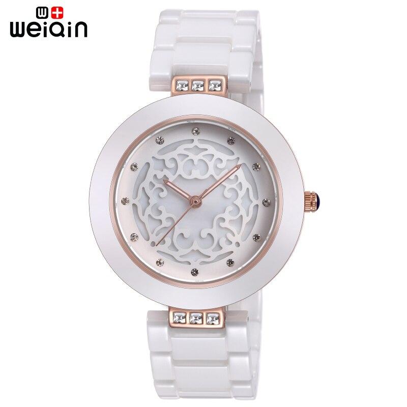 WEIQIN márka kiváló minőségű teljes kerámia női órák Elegáns Relojes Mujer 2019 divatóra női 3ATM vízálló Montre Femme