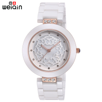 WEIQIN Brand High Quality Full Ceramic Women Watches Elegant Relojes Mujer 2018 Fashion Watch Women 3ATM Waterproof Montre Femme