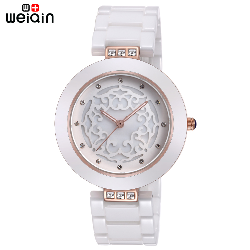 WEIQIN מותג באיכות גבוהה מלא קרמיקה נשים שעונים אלגנטי Relojes Mujer 2019 אופנה שעון נשים 3ATM Waterproof Montre Femme