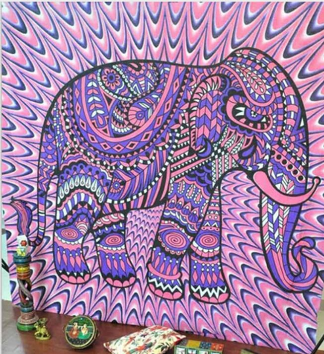 Hot Indian Elephant Mandala Flora Beach Towel Wall Hanging Tapestry  Bedspread Throw Yoga Mat Table Cloth Home Decor 150*130cm In Blankets From  Home U0026 Garden ...