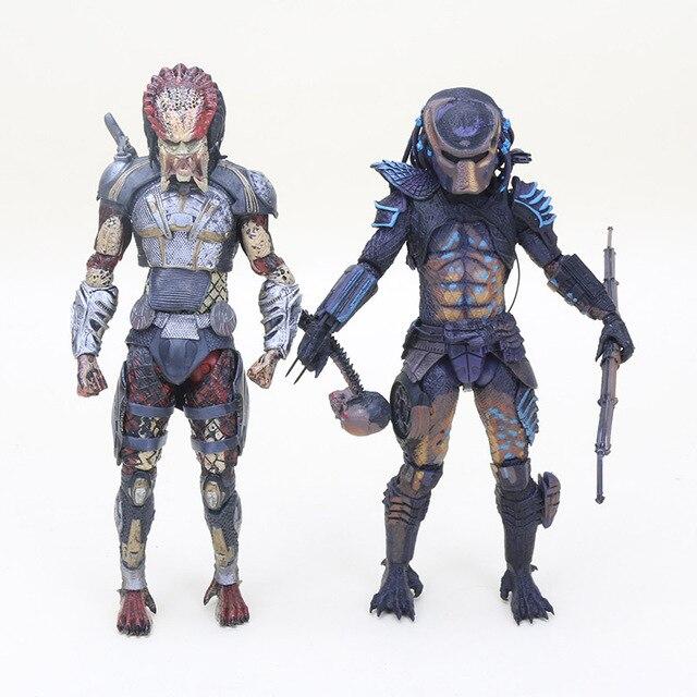 20 cm 2 toy figura NECA Predador Caçador Cidade com Crânio PVC Action Figure Collectible Toy Dolls Presentes