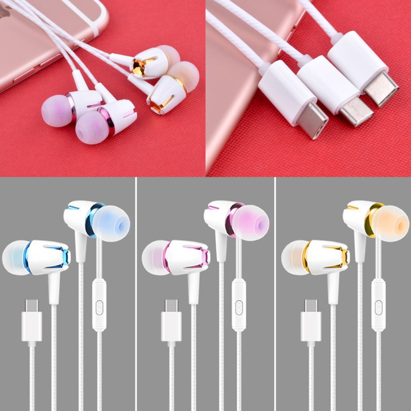 OOTDTY USB Type-C Earbuds Earphone Wired Control Stereo With MIC For LeEco Le 2/Max/Pro usb type c metal hi fi stereo earphones wired control type c earbuds for huawei google moto z letv leeco le max 2 pro htc phone
