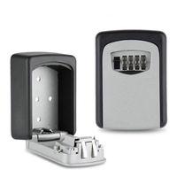 High Strength Mini Aluminum Metal Password Key Box Lock Box Key Safe