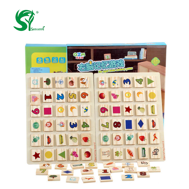 Wooden toys montessori right brain memory test toys for children give their children the best gift toys  bricks  interests