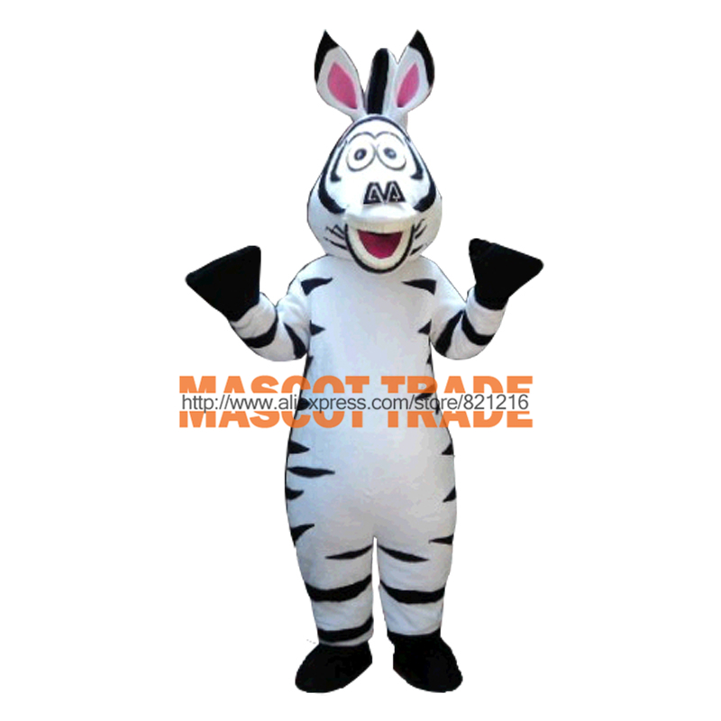 Adult Size In Madagascar Zebra Mascot Costume Madagascar Marty Mascot Costume Free Shipping