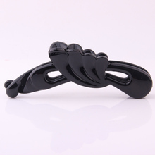 New Arrival Adult Hair Clips  Angel Wings Shape Banana Solid Black Transperent Brown Hairpin Plastic Basic Hairgrip