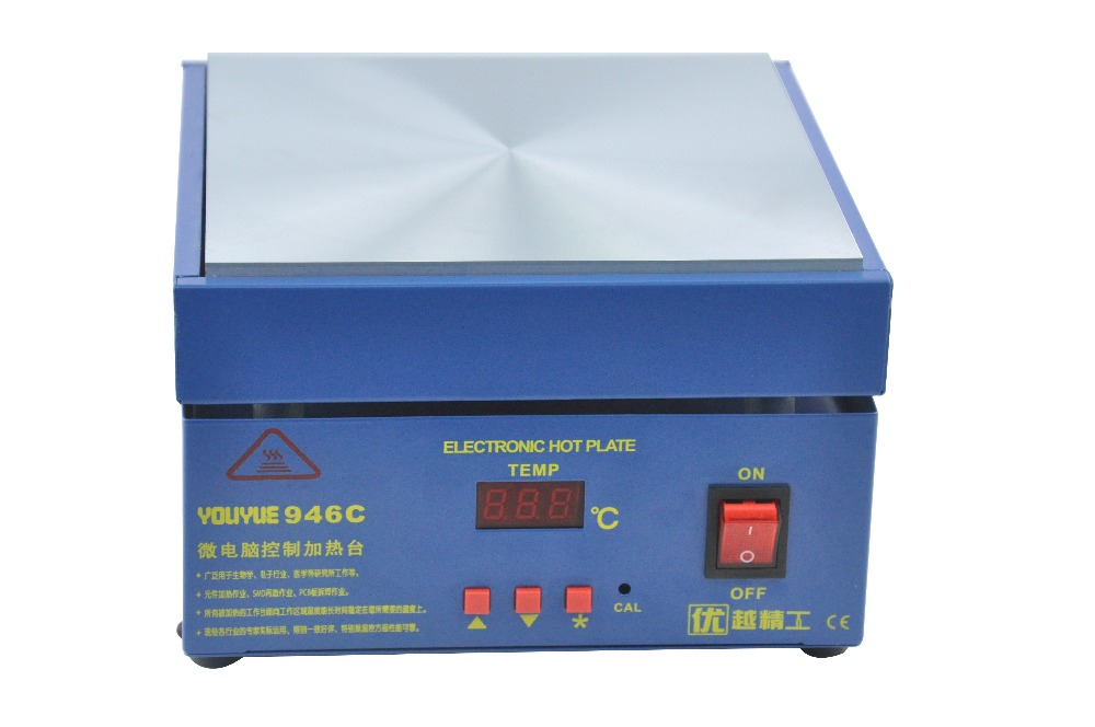 110/220V YOUYUE 946C Electronic Hot Plate Preheat Preheating Station 200x200mm for PCB, SMD heating work110/220V YOUYUE 946C Electronic Hot Plate Preheat Preheating Station 200x200mm for PCB, SMD heating work