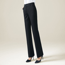 2018 New Women High Waist Straight Pants Button OL Black Pants Pencil Female Trousers Korean Full Length Formal Office Pants