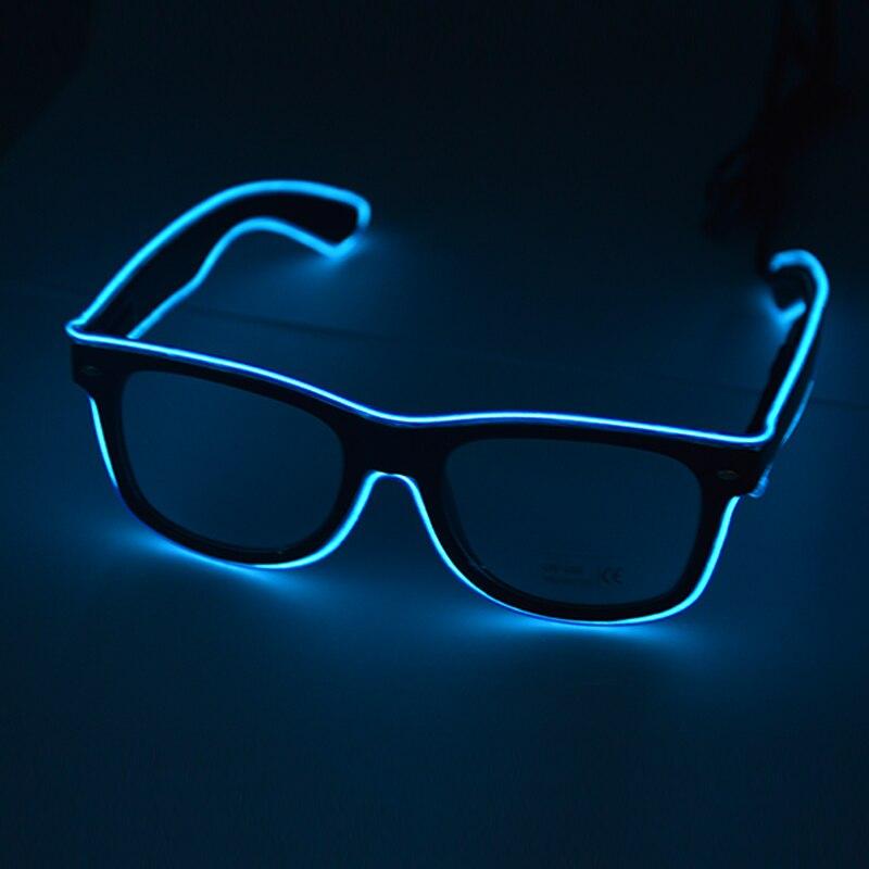cf5422fc9 ᗑ】El سلك ضوء زرقاء نظارات تزايد مضيئة هالوين نظارات إمدادات الحدث ...