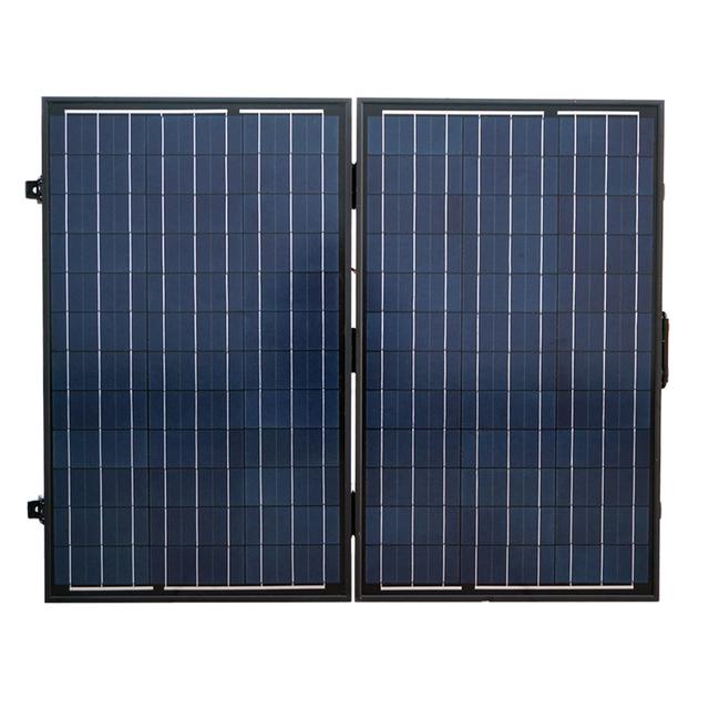Portable Kit 120 Watt Poly PV Folding Solar Panel 12V RV Boat Off Grid-2x60W