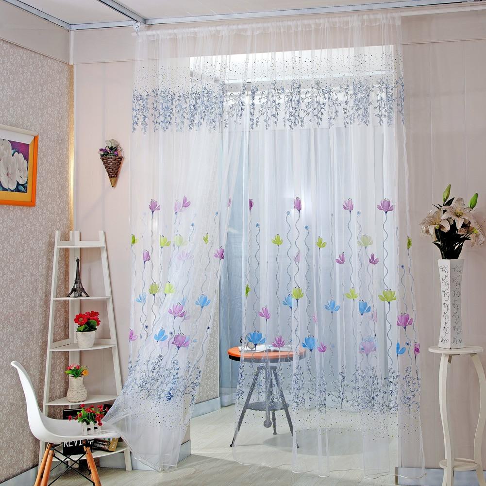 Rideau Pour Porte Fenetre romantique chambre papillon gaze rideau pour salon décor à