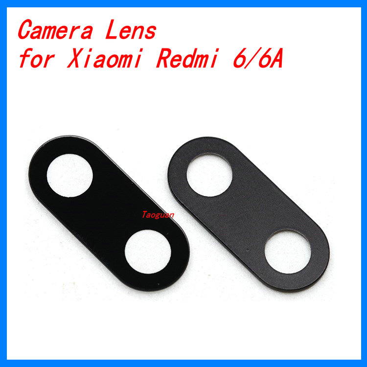 2pcs/lot XGE New Back Rear Camera Lens Glass Replacement For Xiaomi Redmi 6 Redmi 6A 6pro Top Quality