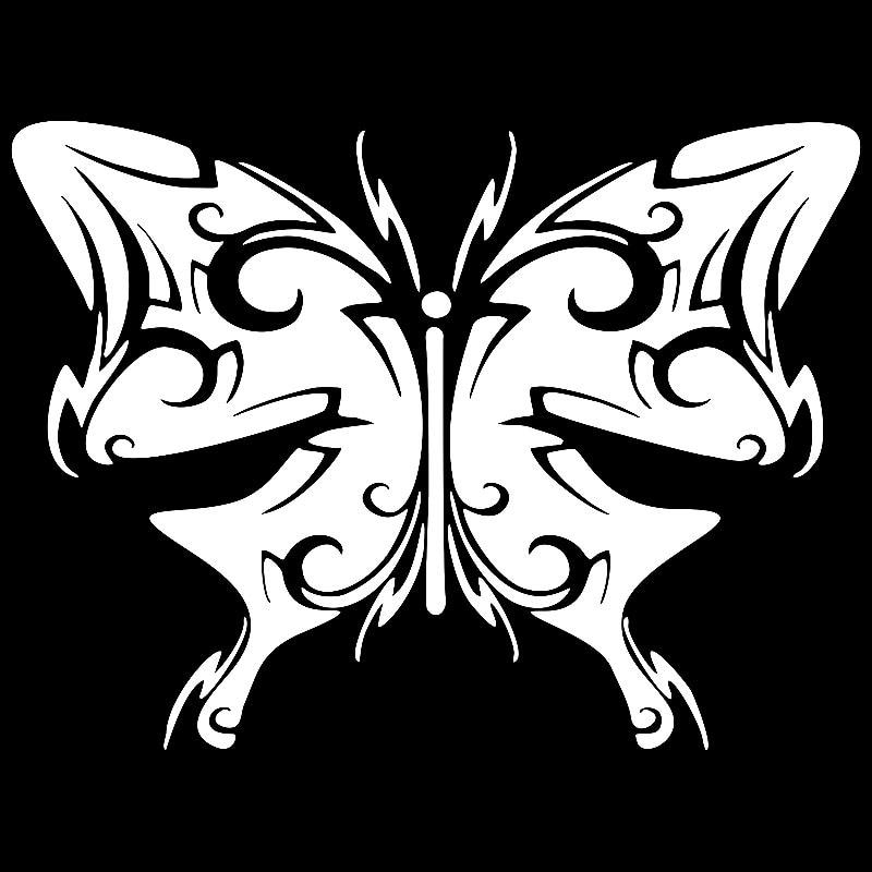Butterfly Tribal  Skull Truck Car Window Laptop Vinyl Decal Sticker