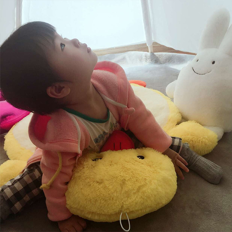 Nouveau tapis de jeu doux pour bébé tapis de jeu éducatif rond pour enfants tapis de couchage pour animaux - 4