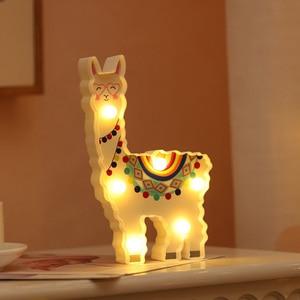 Image 2 - น่ารักAlpaca Flamingo Unicornโคมไฟ 3D Night Lightของขวัญเด็กของเล่นสำหรับทารกเด็กห้องนอนตกแต่งข้างเตียงโคมไฟตั้งโต๊ะตาราง