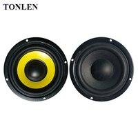 TONLEN 2PCS 4 Inch Subwoofer Speaker 4ohm 8 Ohm Soundbar HIFI Bass Woofer Portable Music Speakers
