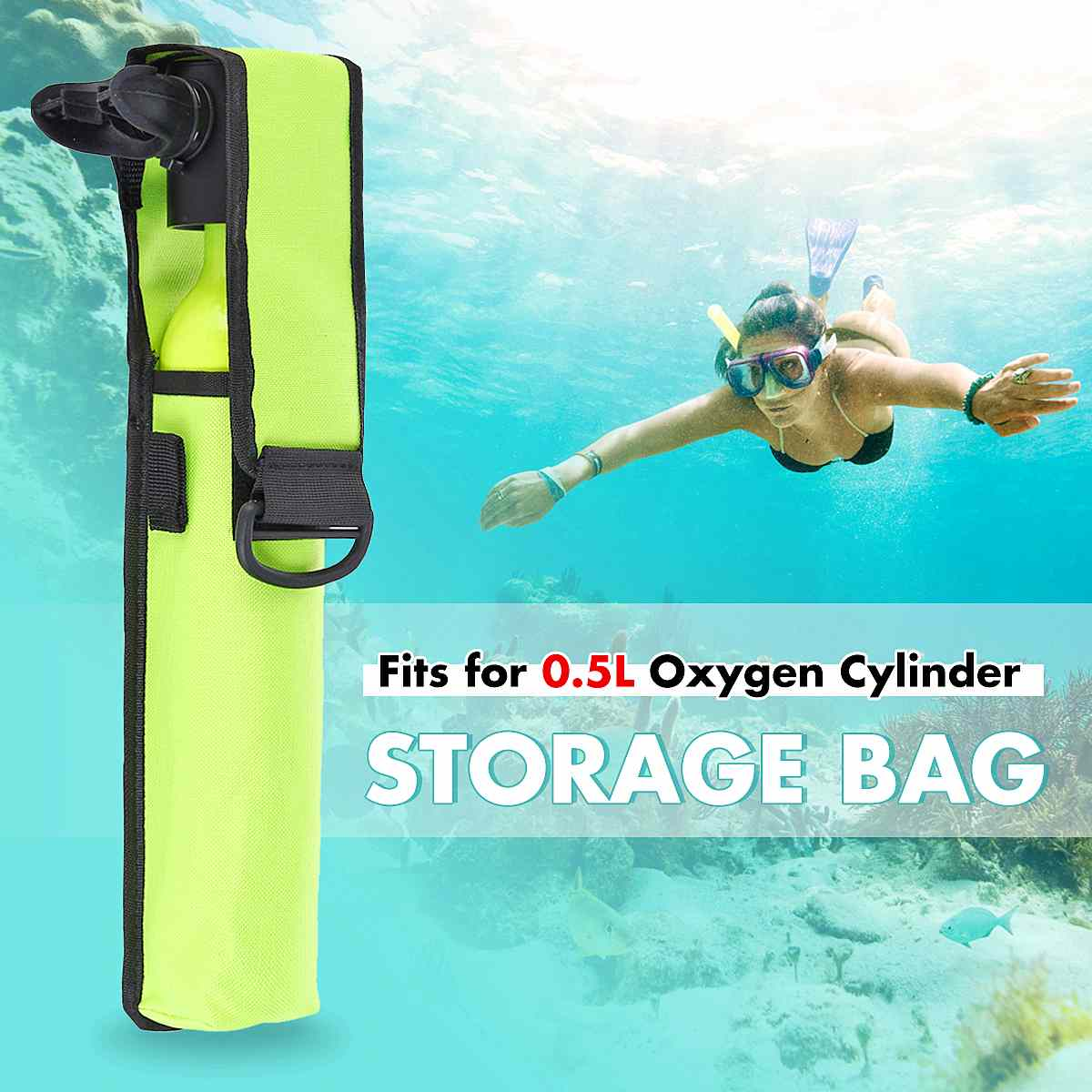 Portable Storage Bag 600D Oxford Cloth For 500ML Scuba Diving Oxygen Cylinder Diving Equipment Mini Scuba Diving Dropshipping