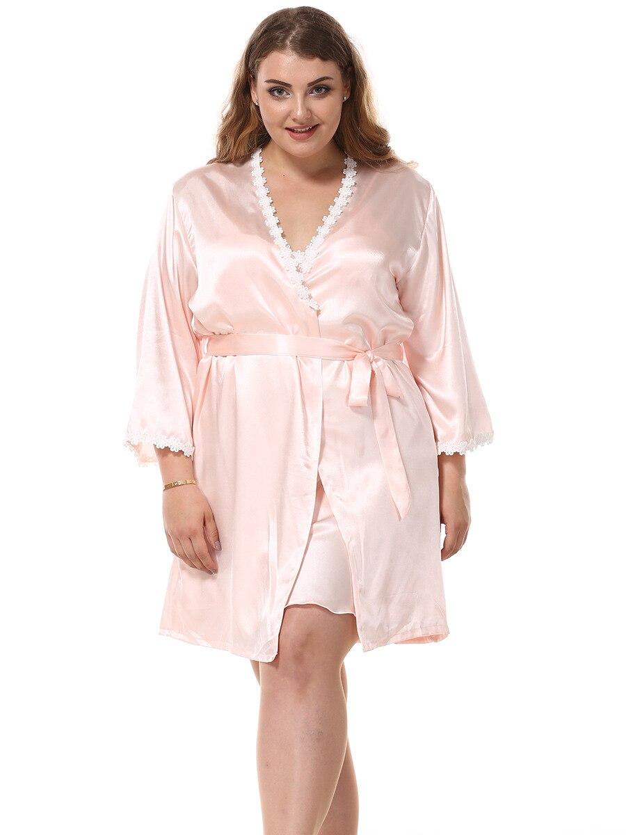 Nachthemd & Bademantel-sets Damen-nachtwäsche WohltäTig Lange Robe Set Lange Satin Morgenmantel Frauen Nachtwäsche 9685 MöChten Sie Einheimische Chinesische Produkte Kaufen?