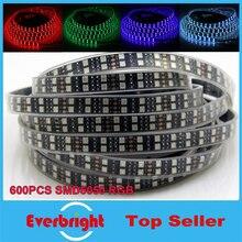 New Black PCB LED Strip RGB 5050 Double Row,Black PCB Board,IP67 Silicone Tube Waterproof,120LED/m,5m 600LEDs DC12V Black PCB