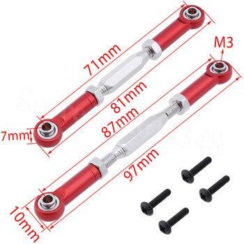2 sztuk z przodu aluminium kierownicy pręt łączący śruba rzymska dla RC E10 1:10 elektryczne Himoto E10XT E10XTL Katana Truggy części zamienne 33605