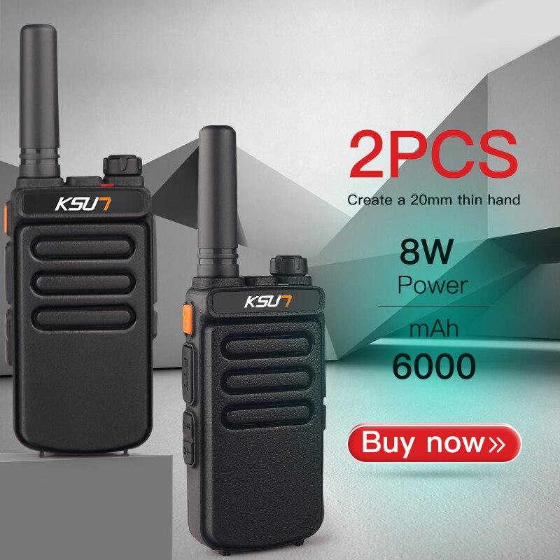 (2 pièces) KSUN X-30 Portable talkie-walkie Portable Radio 8W haute puissance UHF poche deux voies jambon Radio communicateur HF émetteur-récepteur