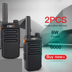 (2pcs) KSUN X-30 Handheld Walkie Talkie Portable Radio 8W High Power UHF Handheld Two Way Ham Radio Communicator HF Transceiver
