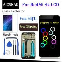 Для Xiaomi Redmi 4x ЖК-дисплей сенсорный экран дигитайзер сборка Замена с рамкой для Xiaomi Redmi 4x Pro Prime 5,0 дюймов