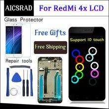 עבור Xiaomi Redmi 4X LCD תצוגת מסך מגע Digitizer עצרת עם מסגרת עבור Xiaomi Redmi 4X פרו ראש 5.0 סנטימטרים