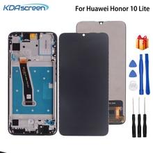 Huawei社の名誉10 lite lcdディスプレイタッチスクリーンHRY LX2 HRY LX1 HRY AL00用フレームとタッチスクリーンデジタイザHonor10 lite lcdディスプレイ