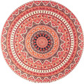 Round Hippie Femme Towel Tapestry Beach Throw Roundie Mandala Towel Yoga Mat Bohemian Au22