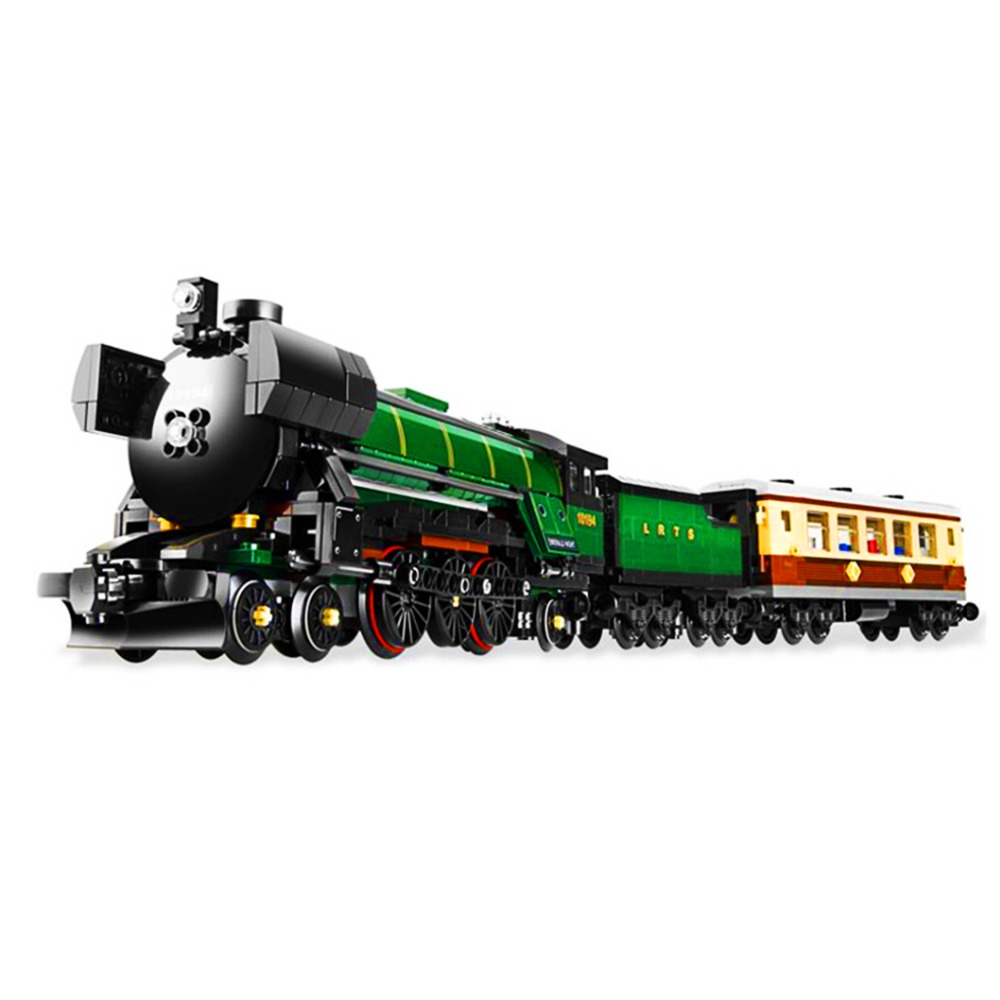 LEPIN21005  1109pcs Technic Series Emerald Night Train Model Building Block Brick Educational Toy For children Gift 21005 loz mini diamond block world famous architecture financial center swfc shangha china city nanoblock model brick educational toys