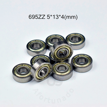 цена на 695ZZ bearing 5*13*4(mm)/1.5*3.9*1.2(inch) ABEC-5 bearings 10pcs Metal Seal Bearing 695 695Z 695ZZ chrome steel bearing