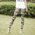 Free Shipping 2016 New Korean Fashion Military Style Camouflage Color Printing Elastic Milk Silk Leggings Pencil Pants For Women
