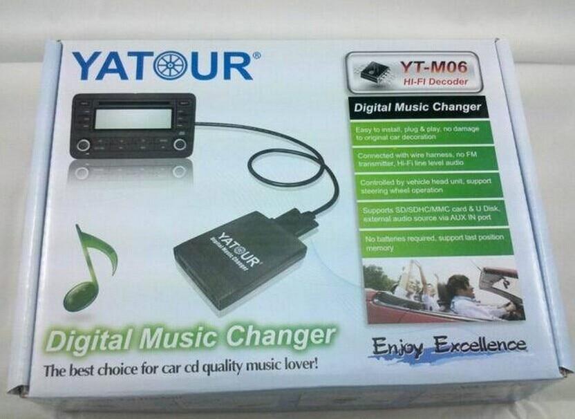 Bluetooth Freisprechanlage f/ür alle YATOUR MP3 USB SD AUX iPod Adapter