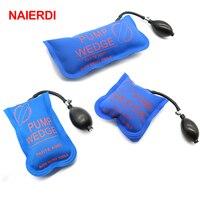 3PCS Blue NAIERDI Pump Wedge Locksmith Tools Full Size Auto Air Wedge Airbag Lock Pick Set
